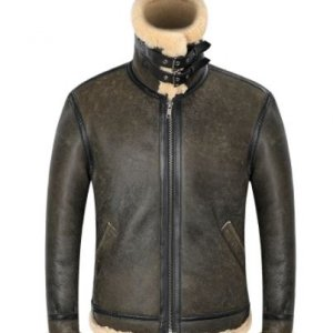 B-3-Genuine-Leather-Shearling-Mens-Pilot-Aviator-Bomber-Jackets