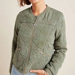 Behind Her Eyes Louise Quilted Bomber Jacket