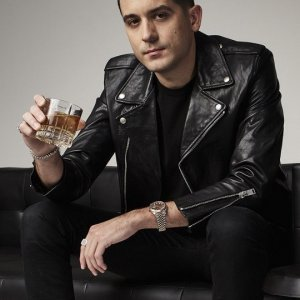 Famous-Rap-Star-G-Eazy-Black-Leather-Biker-Jacket