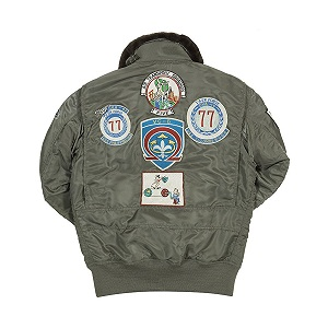 Grey G-1 Top Gun Weapons Jacket