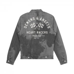 G-Eazy-Racer-Denim-Grey-Black-Jacket
