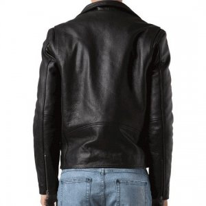 Rap-Star-G-Eazy-Black-Leather-Biker-Jacket