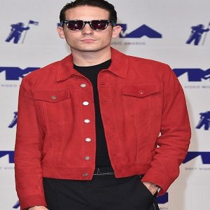 Rapper-G-Eazy-Red-Leather-Jacket