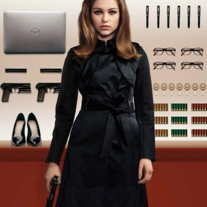 Sophie-Cookson-Kingsman-The-Golden-Circle-Black-Trench-Coat